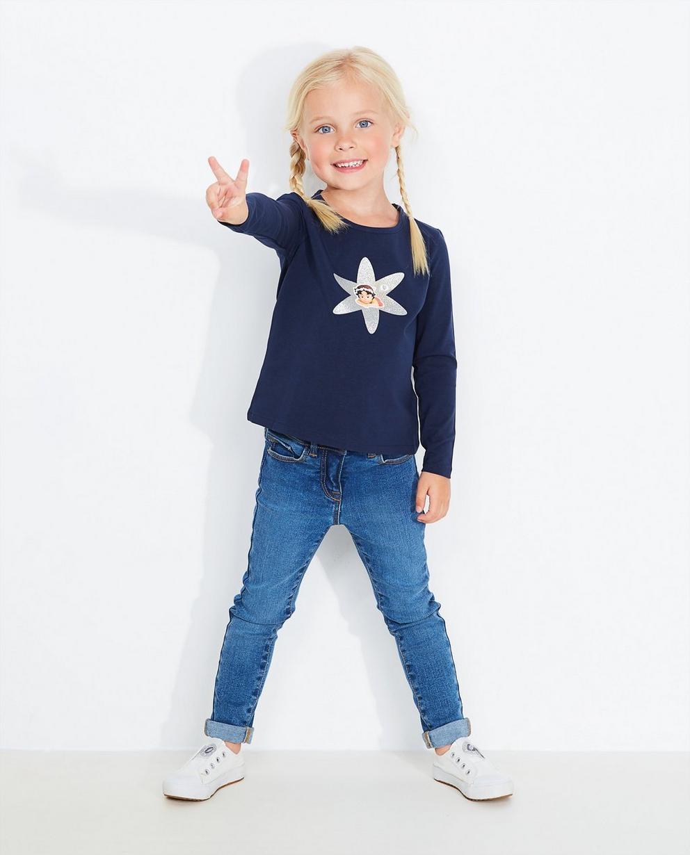 T-shirt à manches longues - imprimé, bleu marine, Maya - Heidi